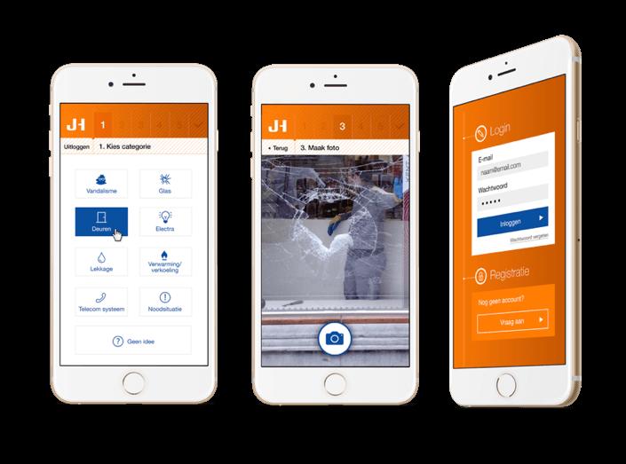 Jansen Huybregts app screens